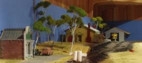 Station with Gum Trees